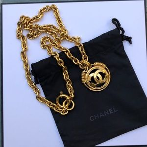 Chanel Gold CC Necklace